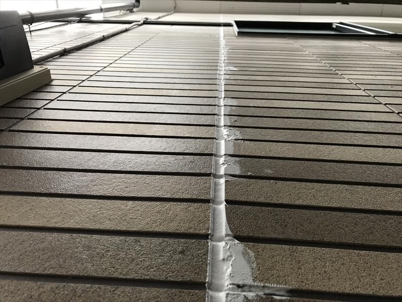 上尾市屋根塗装前サイディング外壁不良補修後