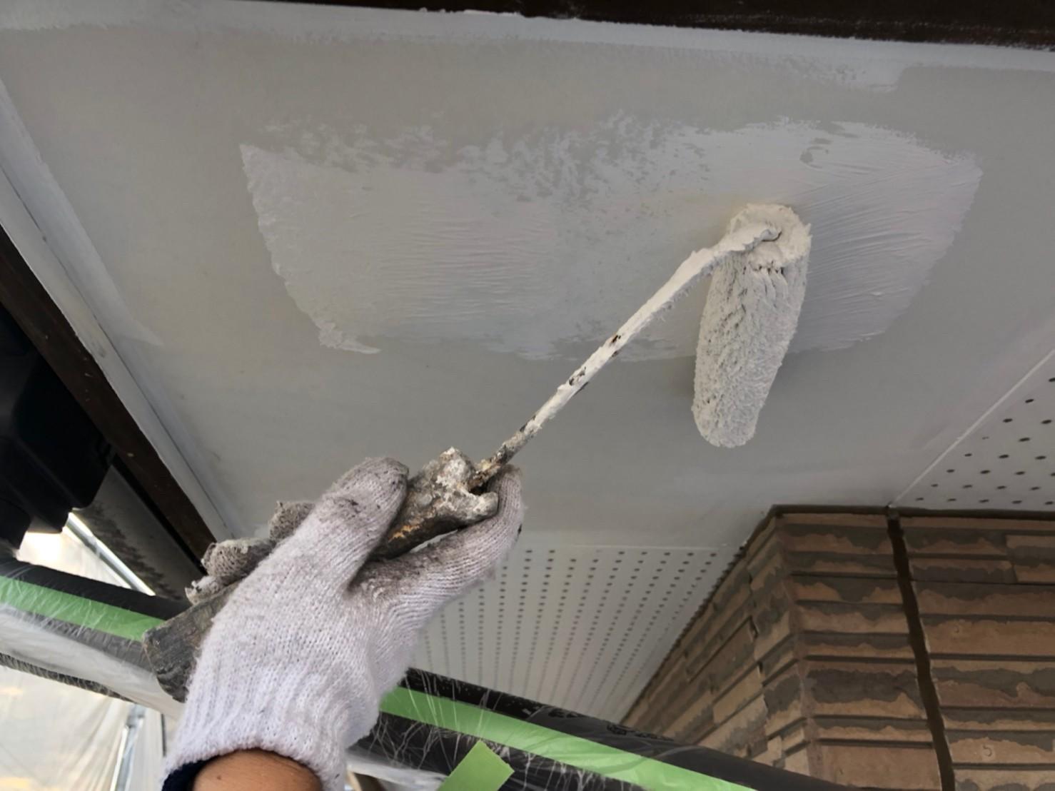 伊奈町の外壁塗装付帯部軒天塗装