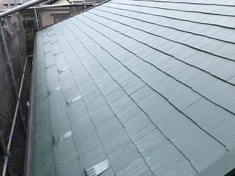 上尾市日の出屋根塗装上塗り完了