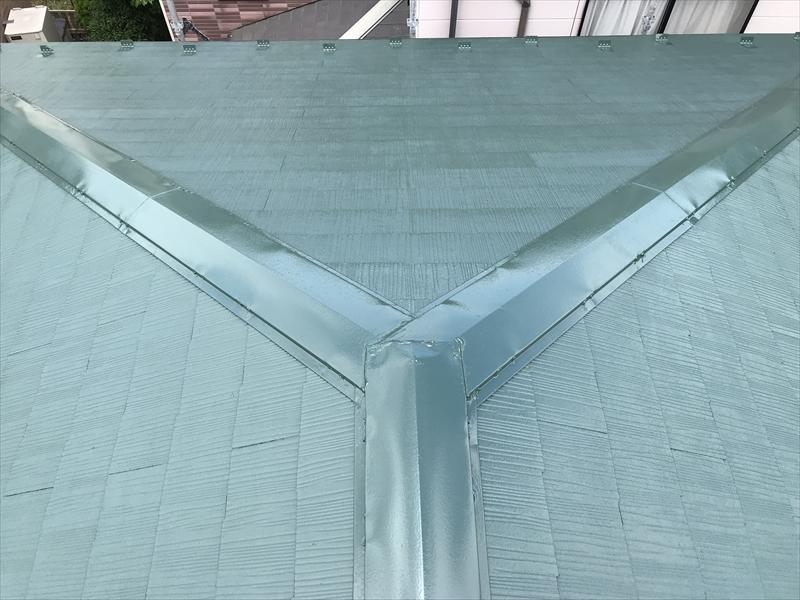 上尾市日の出スーパーシャネツサーモSiで屋根塗装完了しきれいな艶
