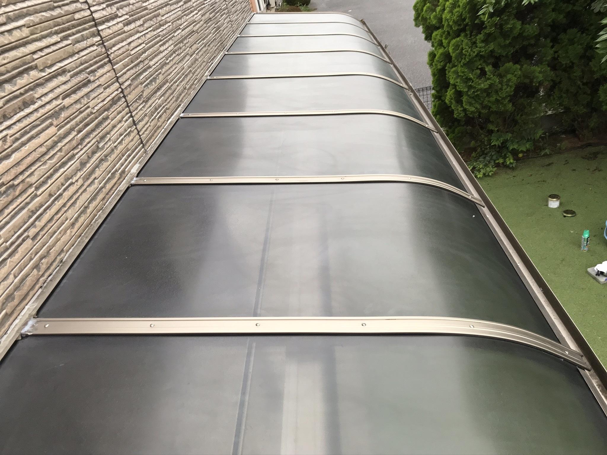 伊奈町外壁塗装終え足場解体後にテラス屋根設置