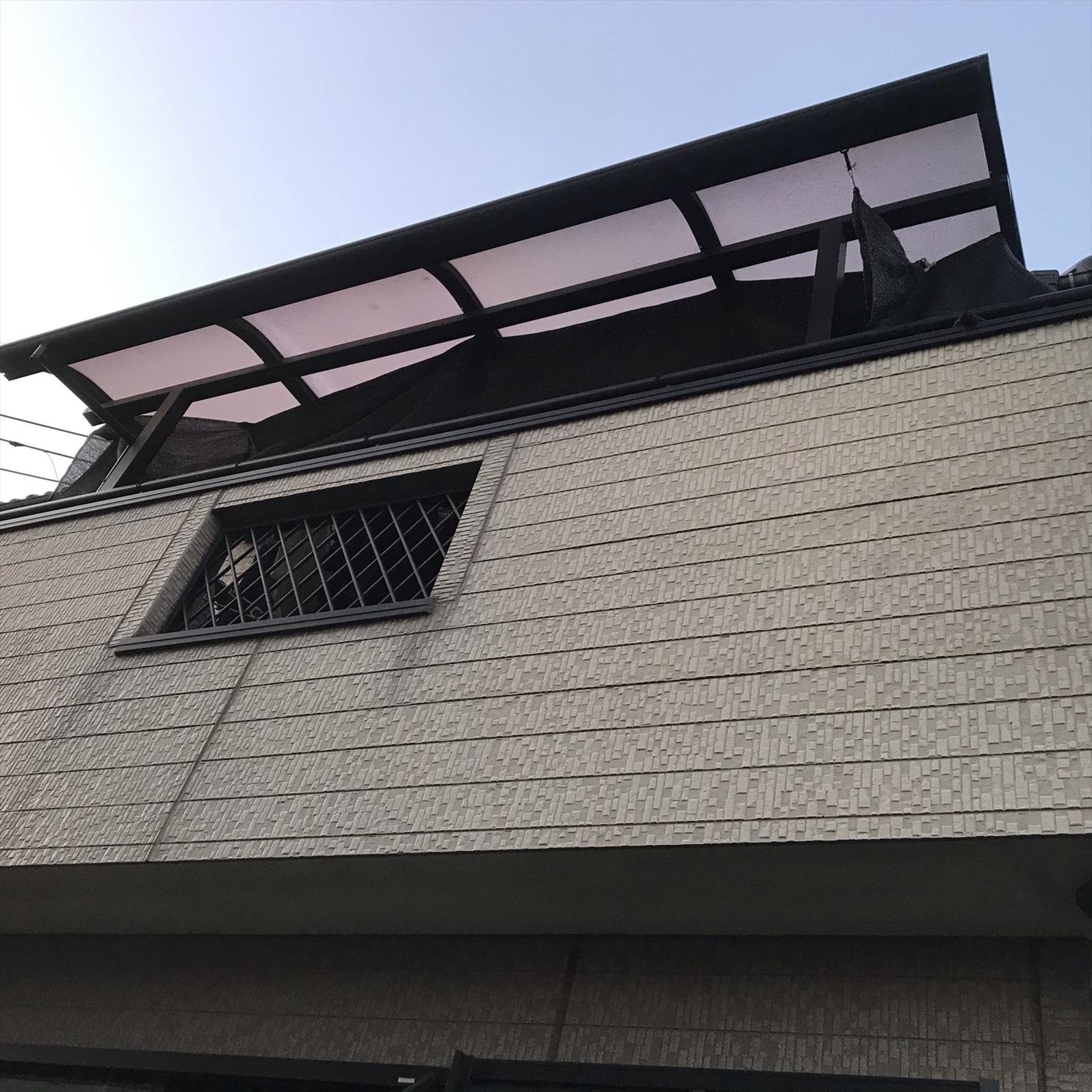 上尾市本町外壁塗装の無料点検ベランダ外壁部分状態