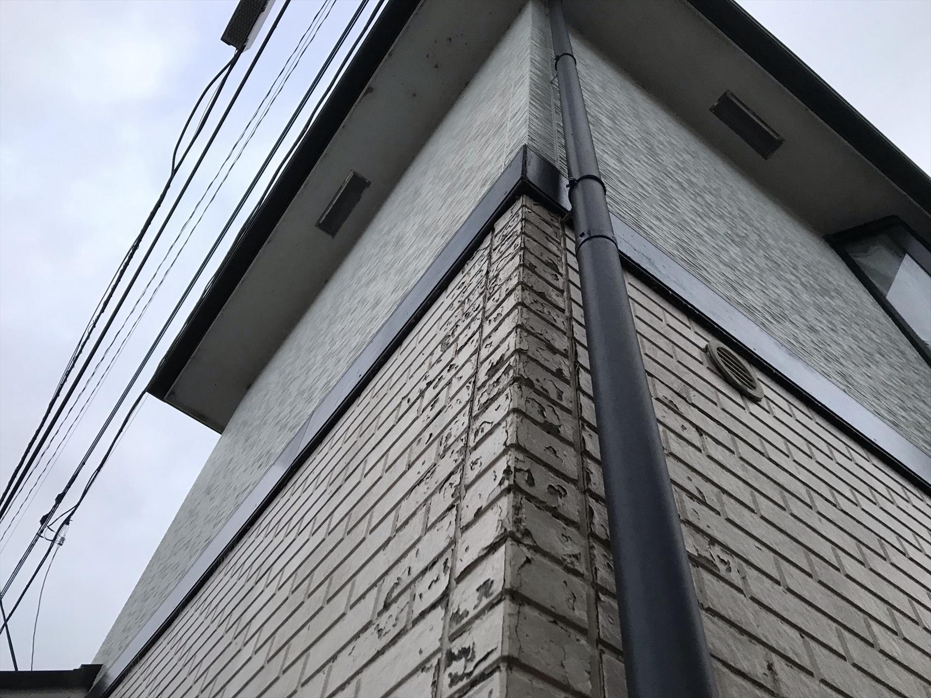 伊奈町築25年賃貸一軒家点検時の北西角サイディング外壁