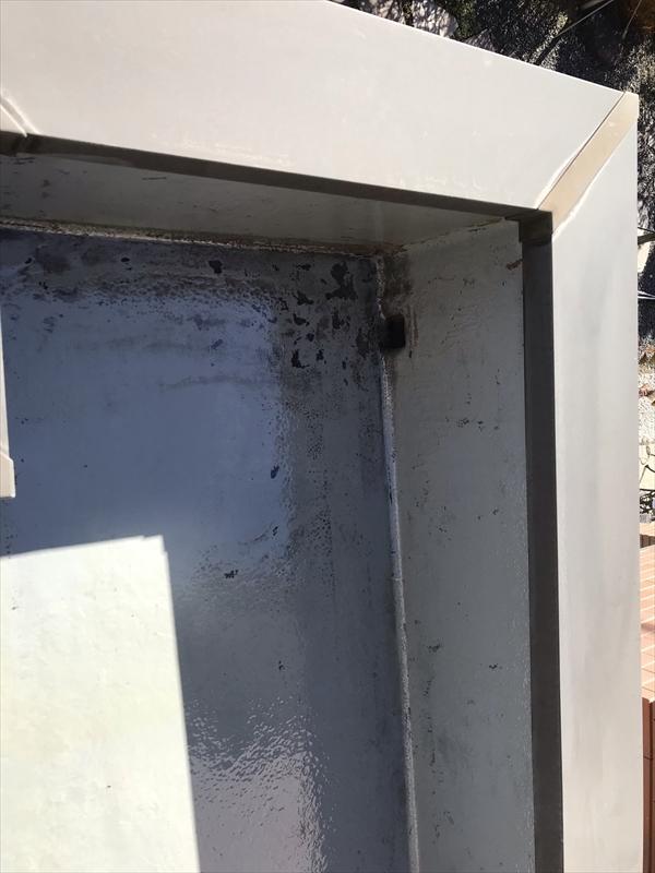 さいたま市岩槻区陸屋根防水のトップコート施工プライマー塗布完了