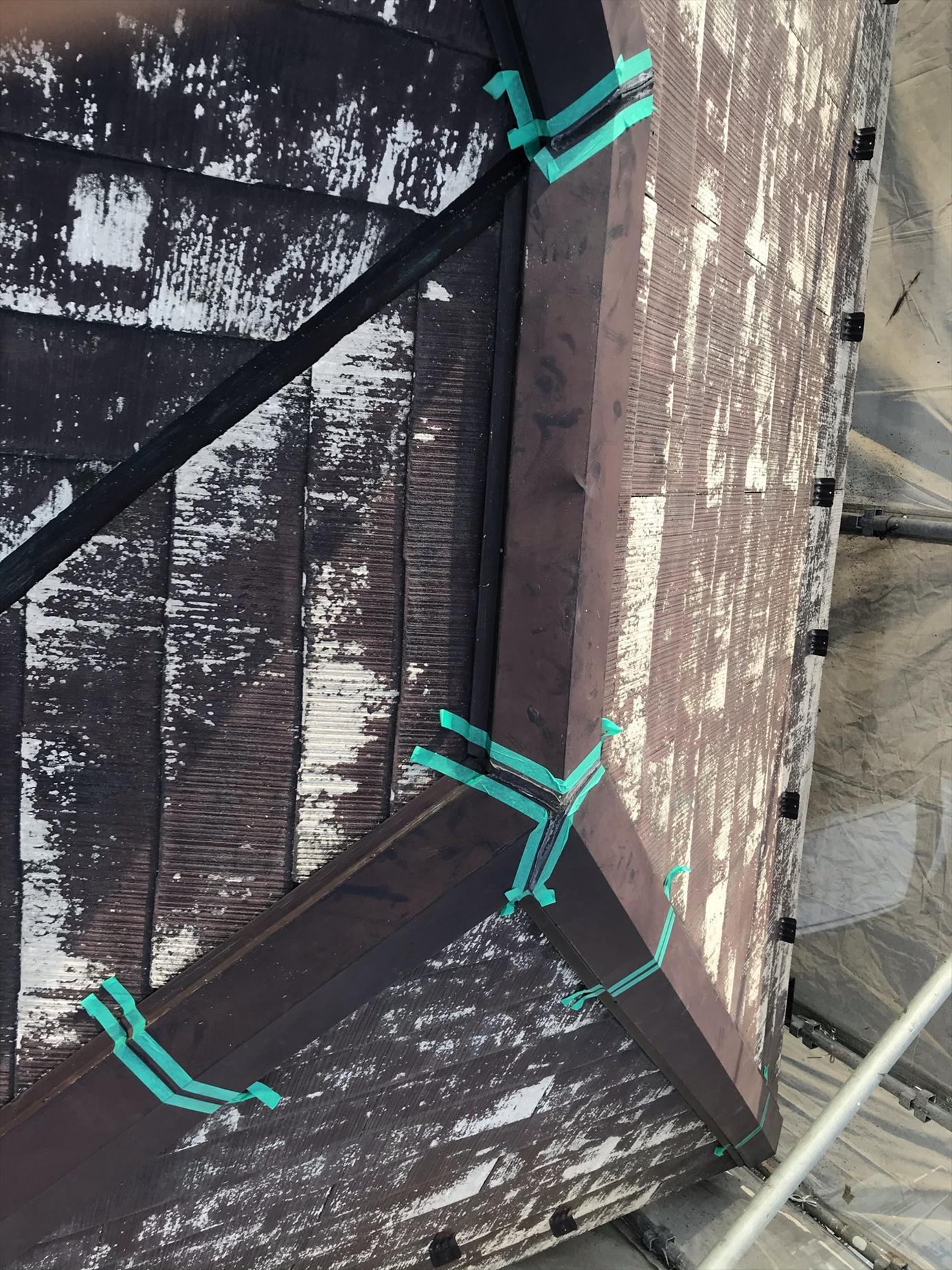 伊奈町賃貸一軒家塗装前棟板金補修