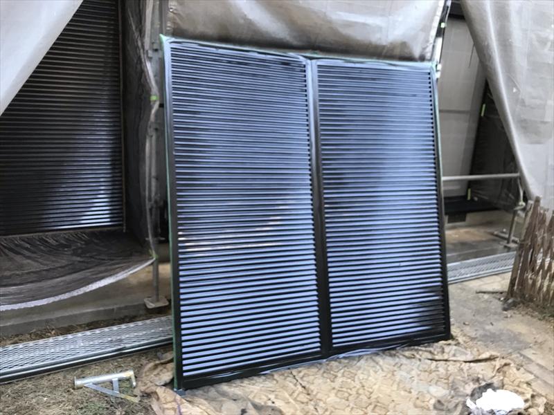伊奈町賃貸一軒家外壁塗装付帯鉄部雨戸吹付塗装
