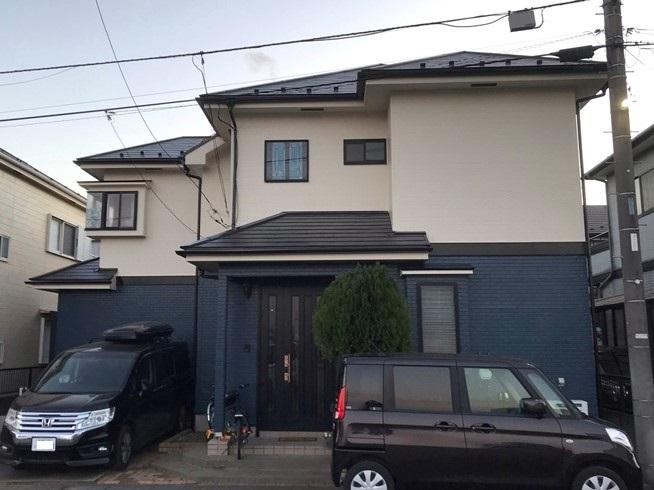 伊奈町賃貸一軒家屋根塗装・外壁塗装・完了後全景写真