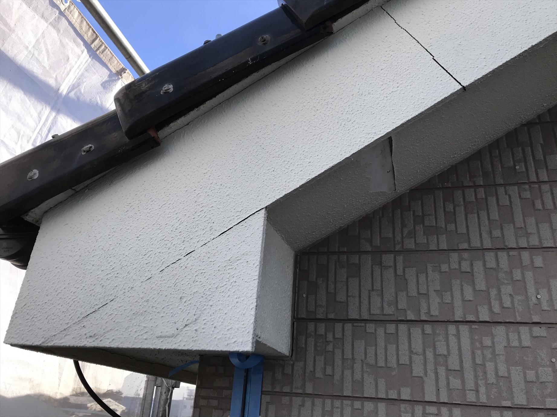 上尾市原市の外壁塗装無料点検時に破風板劣化不良発見