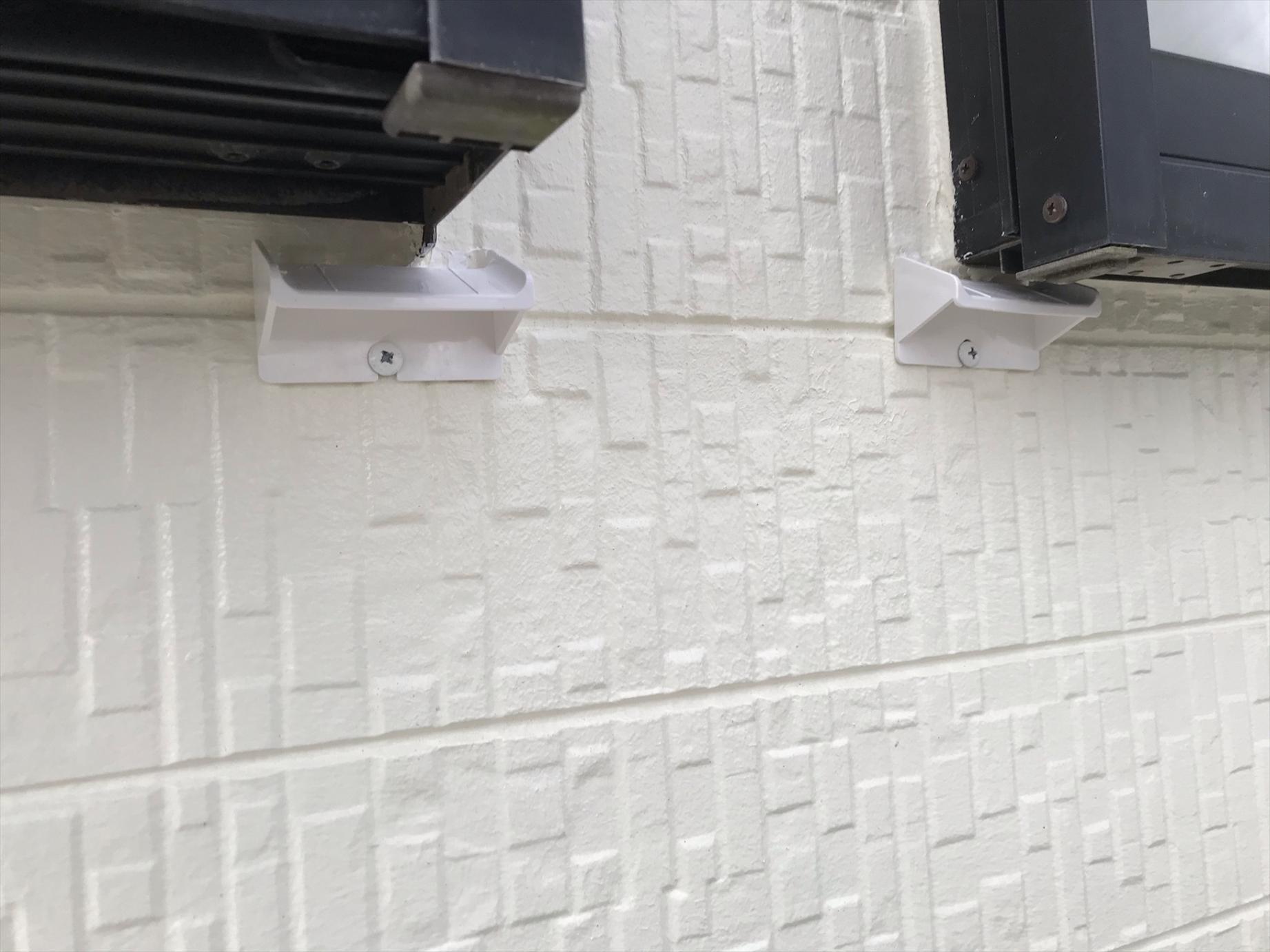 上尾市外壁塗装後に伝え水防止水切り「雨筋ストッパー」取付