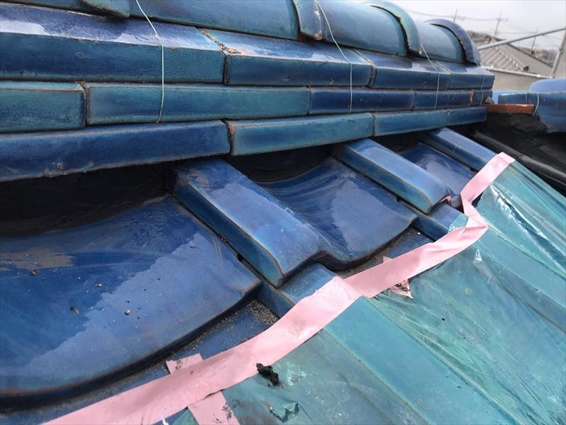 伊奈町の瓦屋根漆喰補修