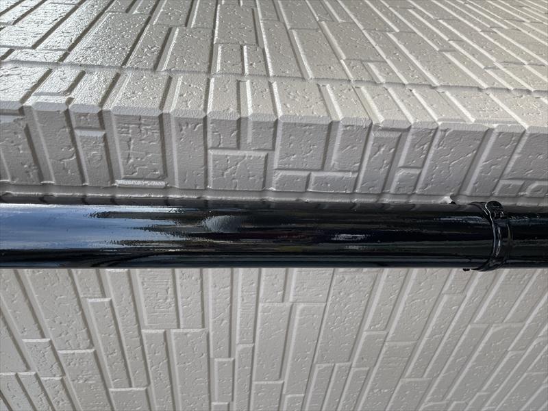 伊奈町外壁塗装時に雨樋補修し塗装