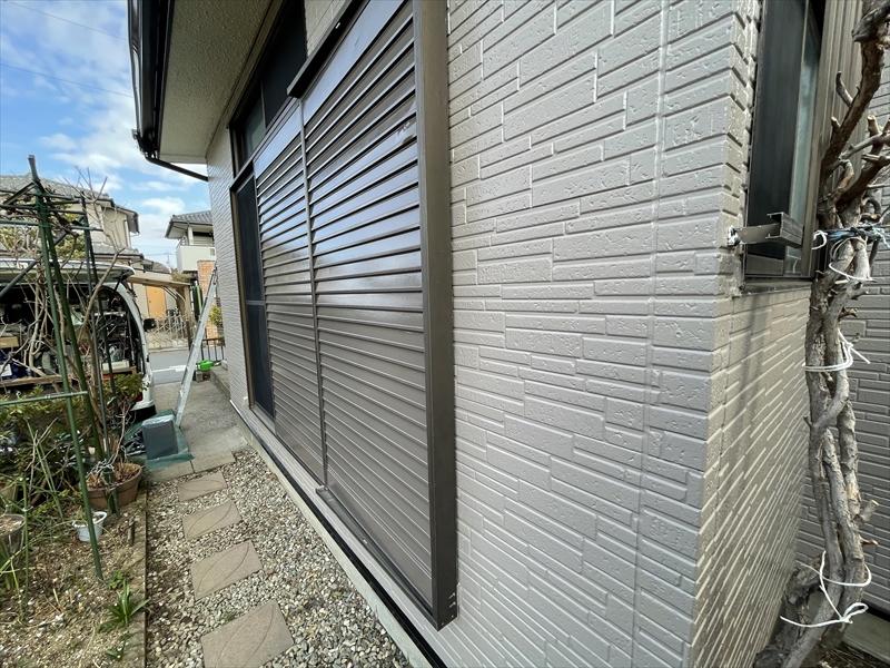 伊奈町外壁塗装工事完了後西側写真