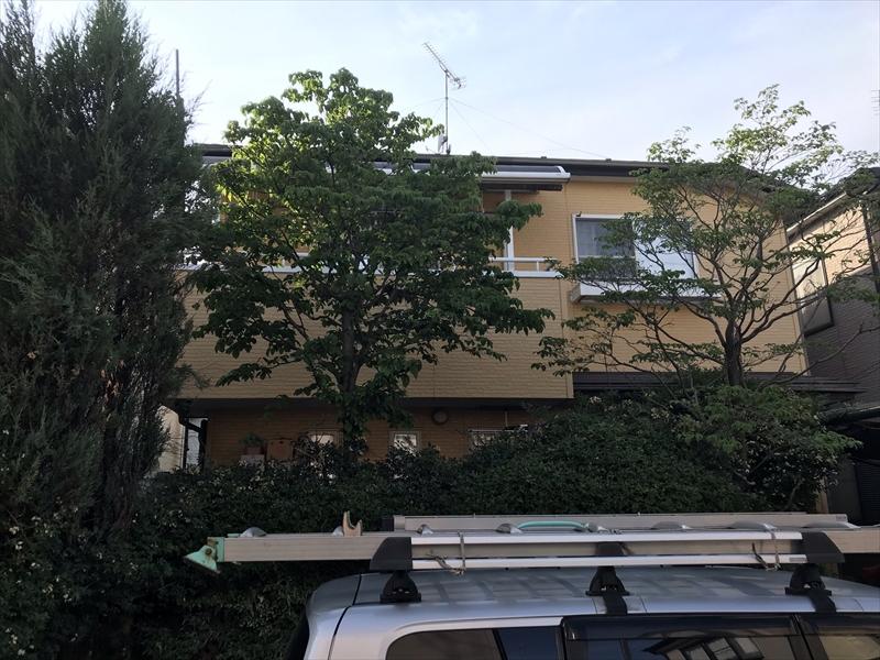 上尾市壱丁目外壁・屋根塗装工事前正面よりの全景
