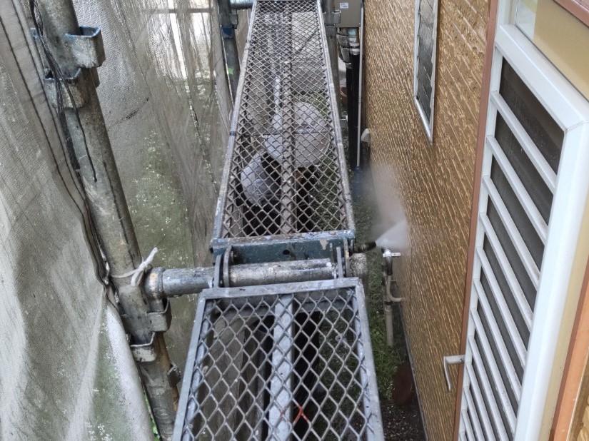 上尾市の1階外壁高圧洗浄