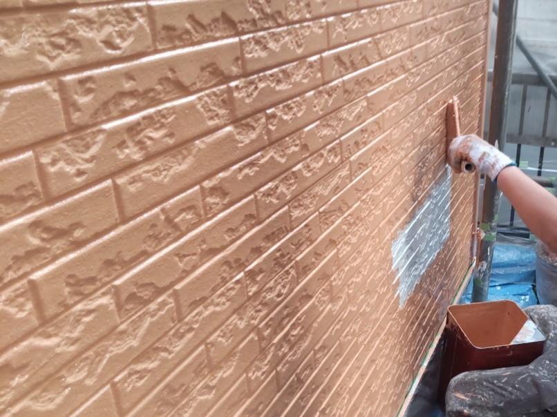 上尾市壱丁目の外壁塗装をアステックペイントのシリコンREVO1000-IRで塗装