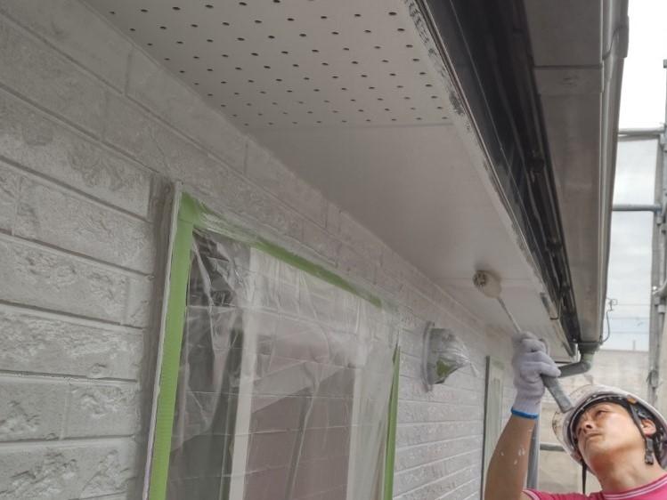 上尾市壱丁目外壁塗装付帯部分軒天塗装
