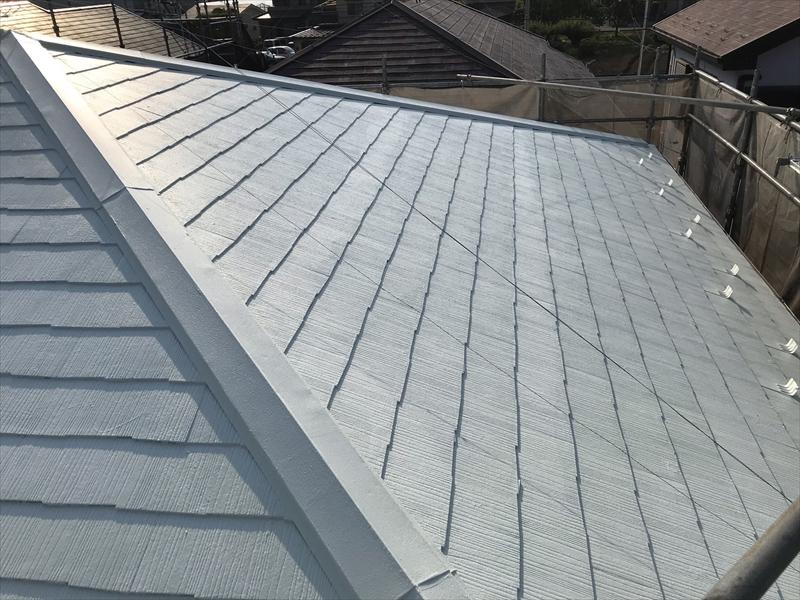 上尾市で遮断熱塗料「キルコ」での屋根塗装完了
