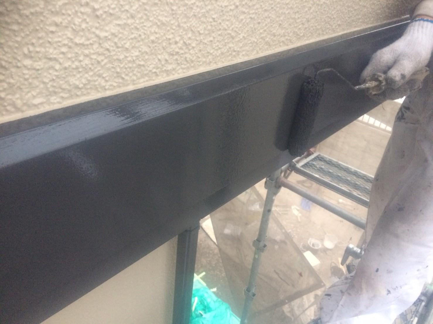 胴差帯塗装2液シリコン