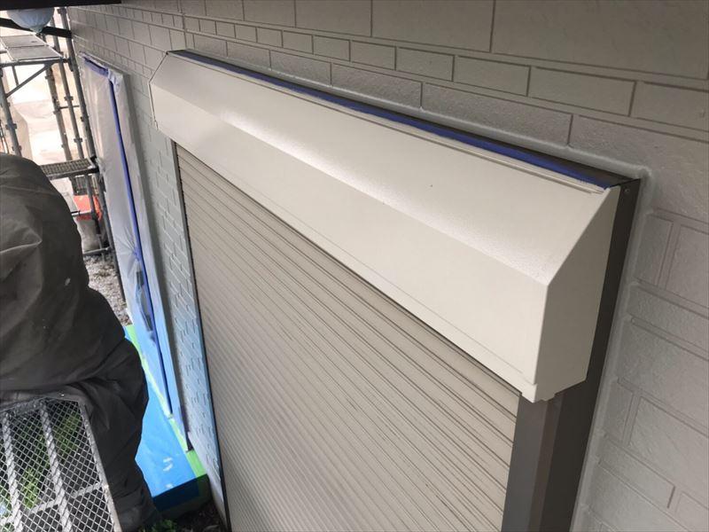 鉄部シャッターボックスの上塗り完了