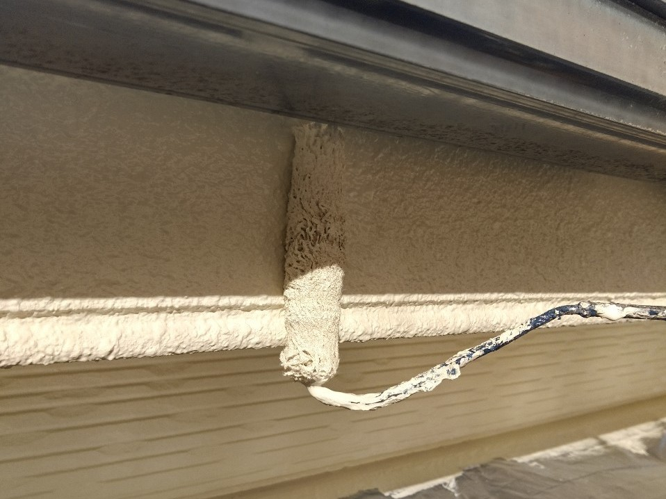 伊奈町賃貸一軒家外壁塗装付帯部鼻隠し塗装