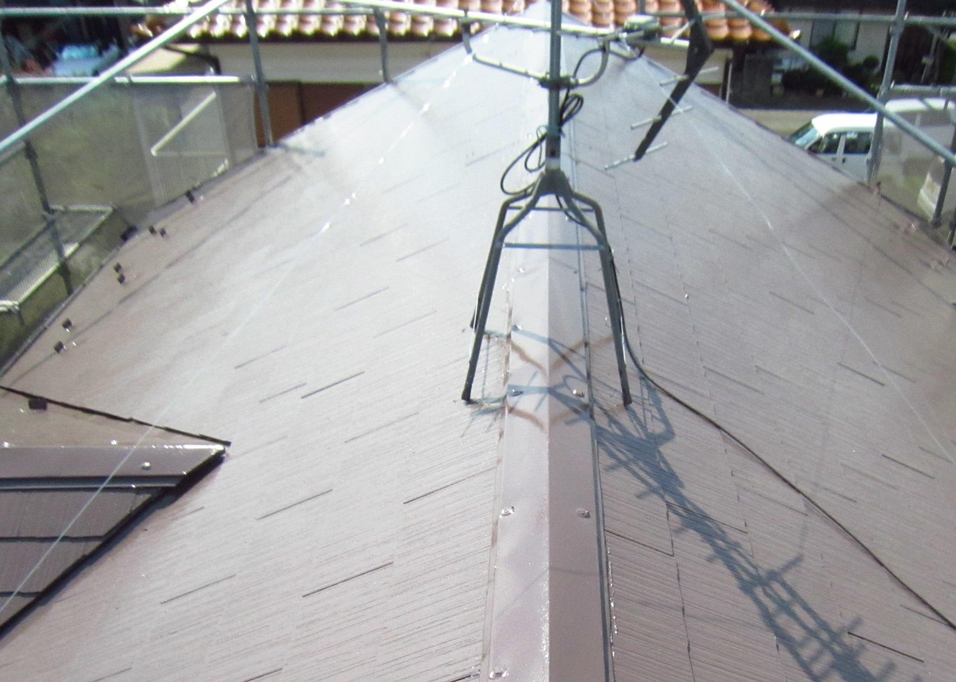 塗装工事後のスレート屋根