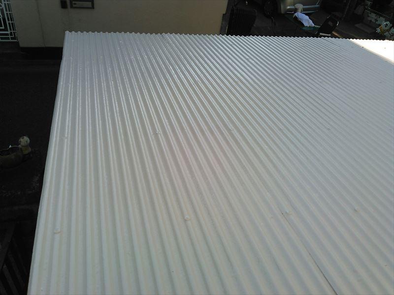 物置屋根塗装完了