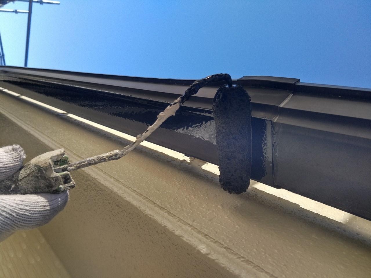 伊奈町賃貸一軒家外壁塗装付帯部雨樋塗装