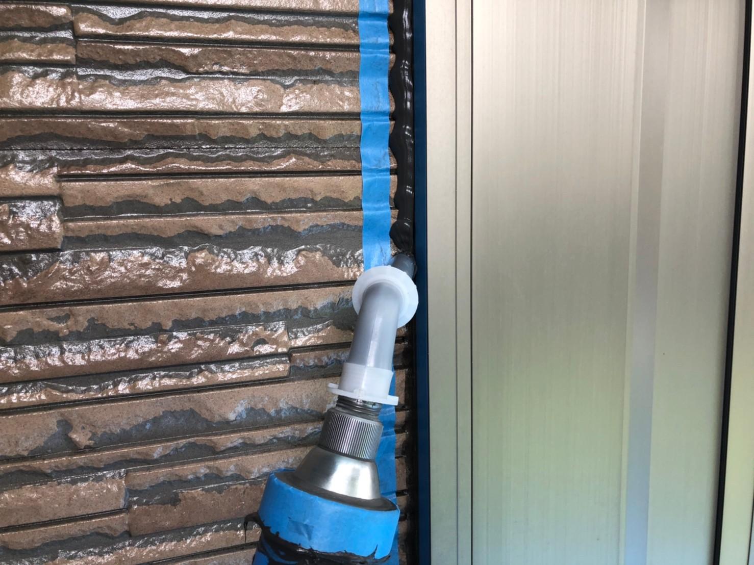 伊奈町外壁塗装時の「シーリング増し打ち」オートンイクシード充填作業