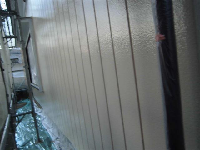 外壁下見サイディング上塗り