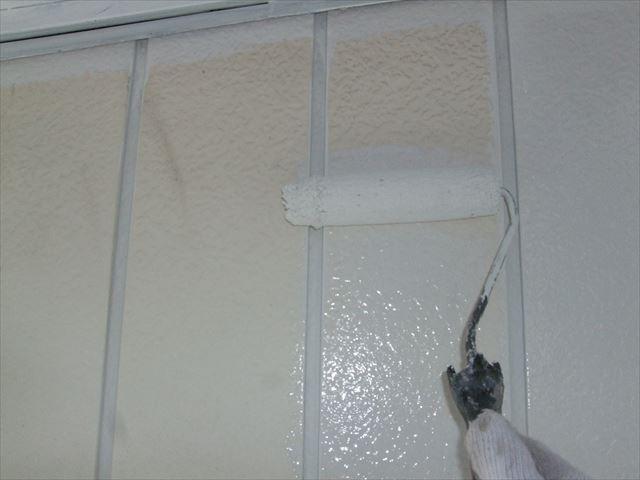 外壁下見トタン中塗り