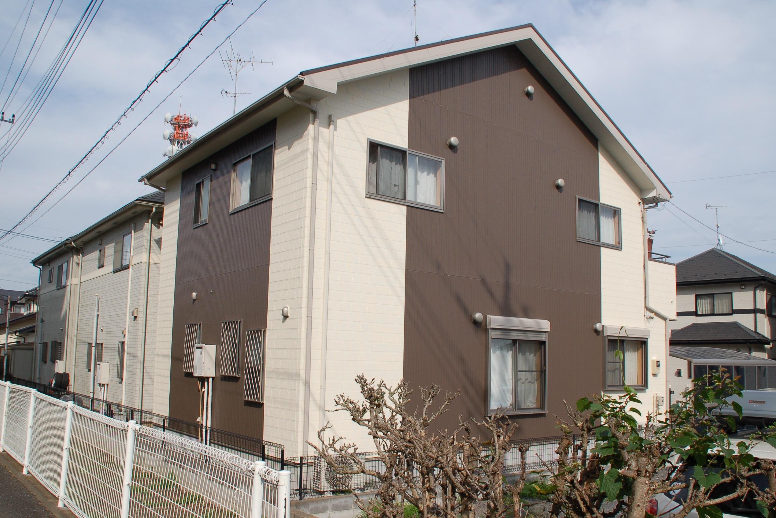屋根外壁塗装施工後のH邸