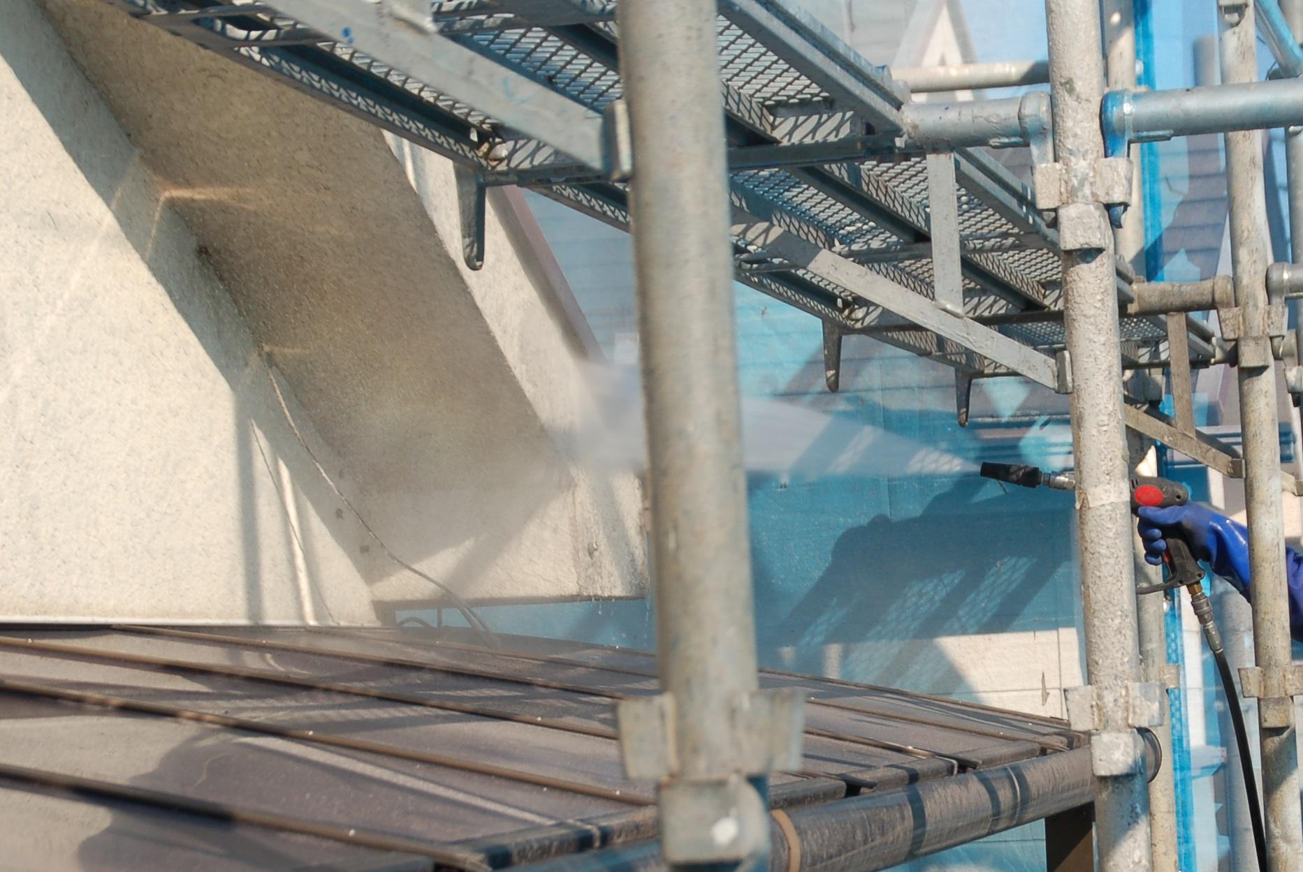 北本市破風,軒天高圧洗浄