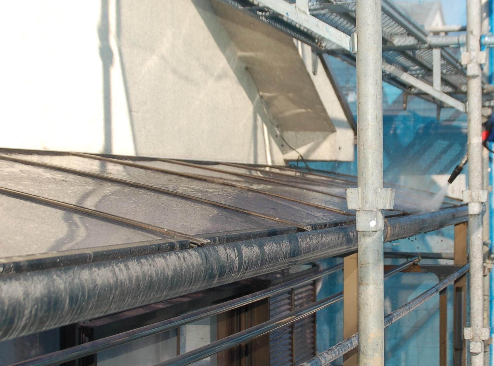 北本市雨樋高圧洗浄