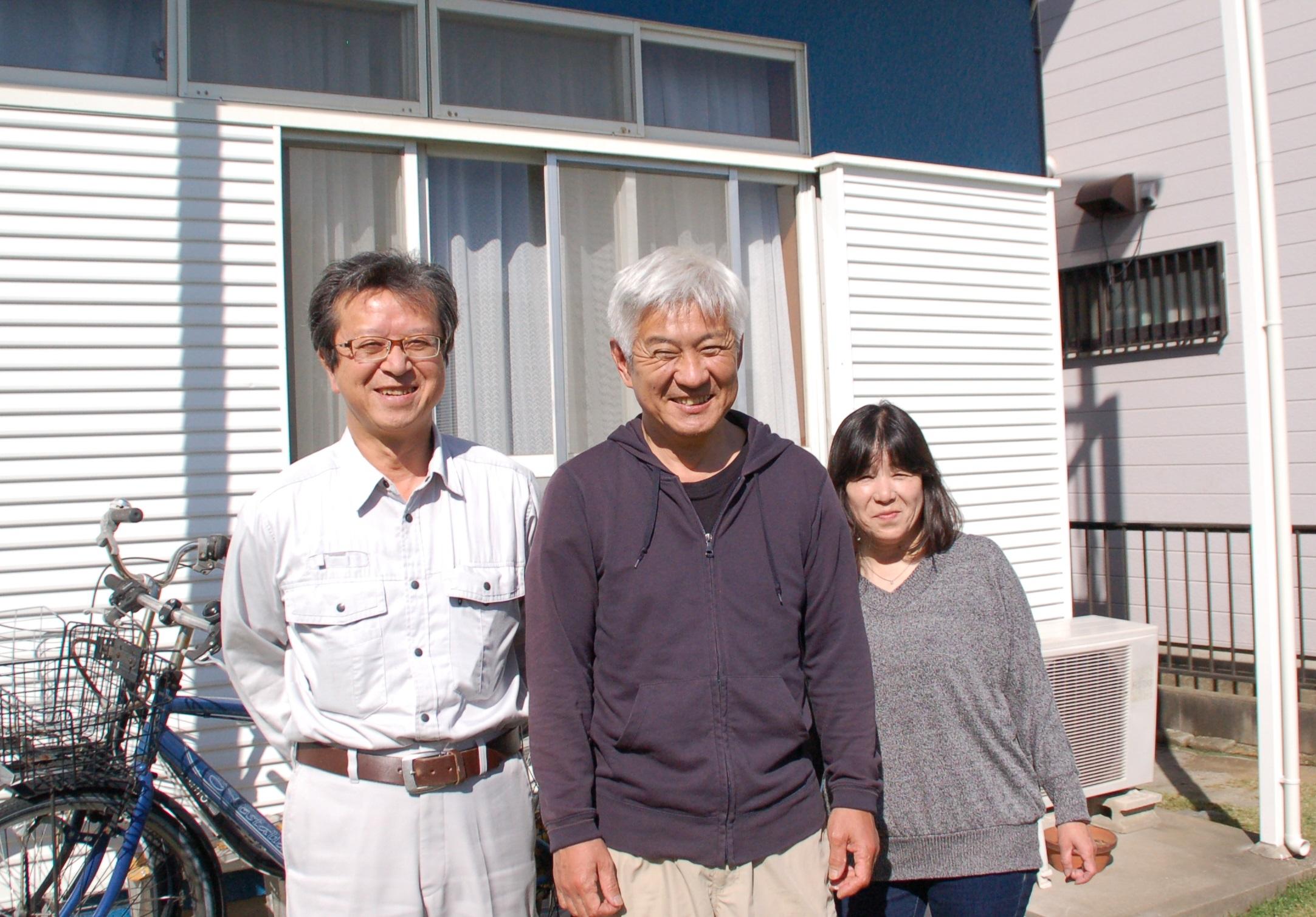 伊奈町A様ご夫婦と完工後の写真