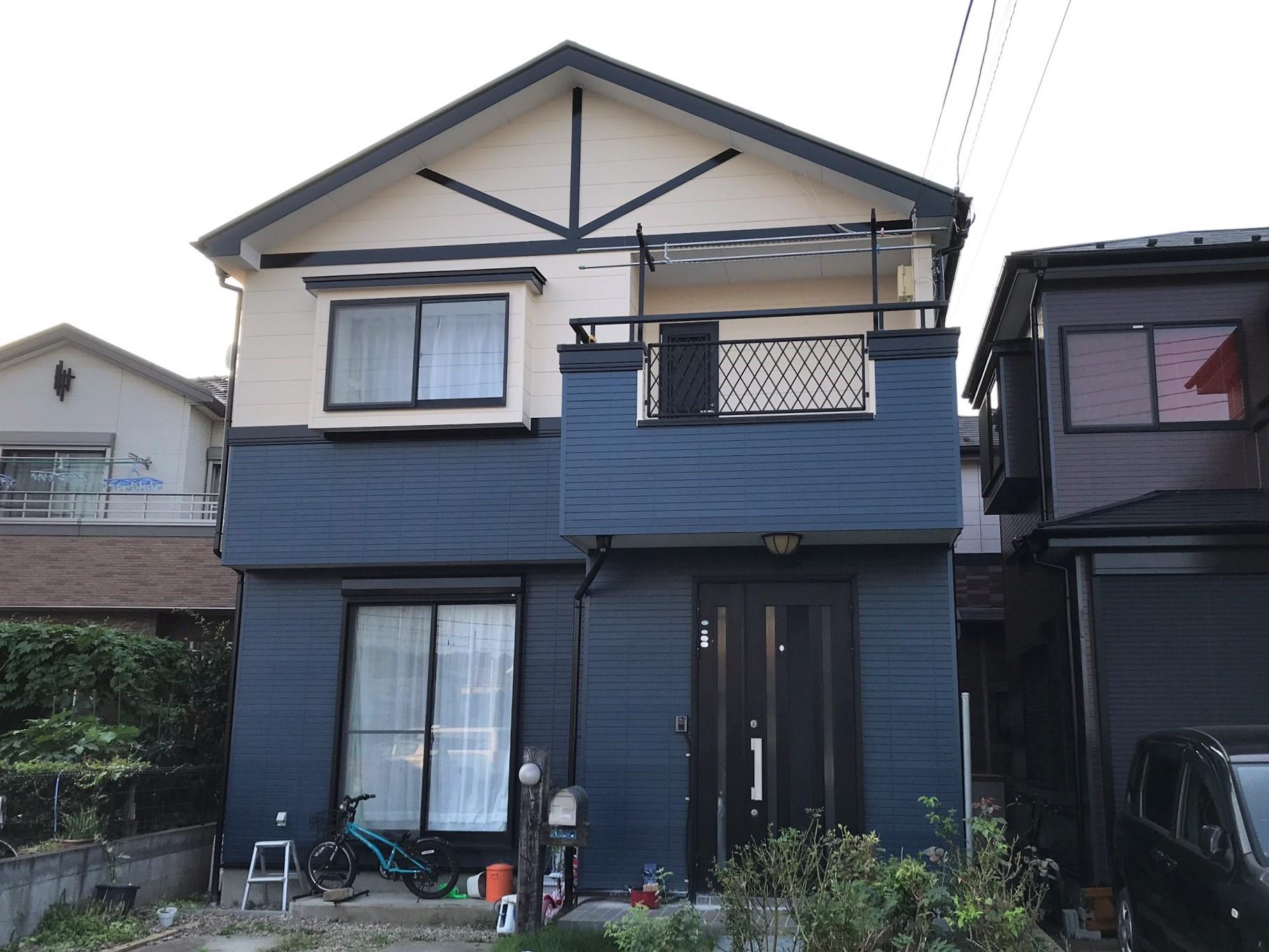 屋根塗装・外壁塗装工事後の上尾市I様邸