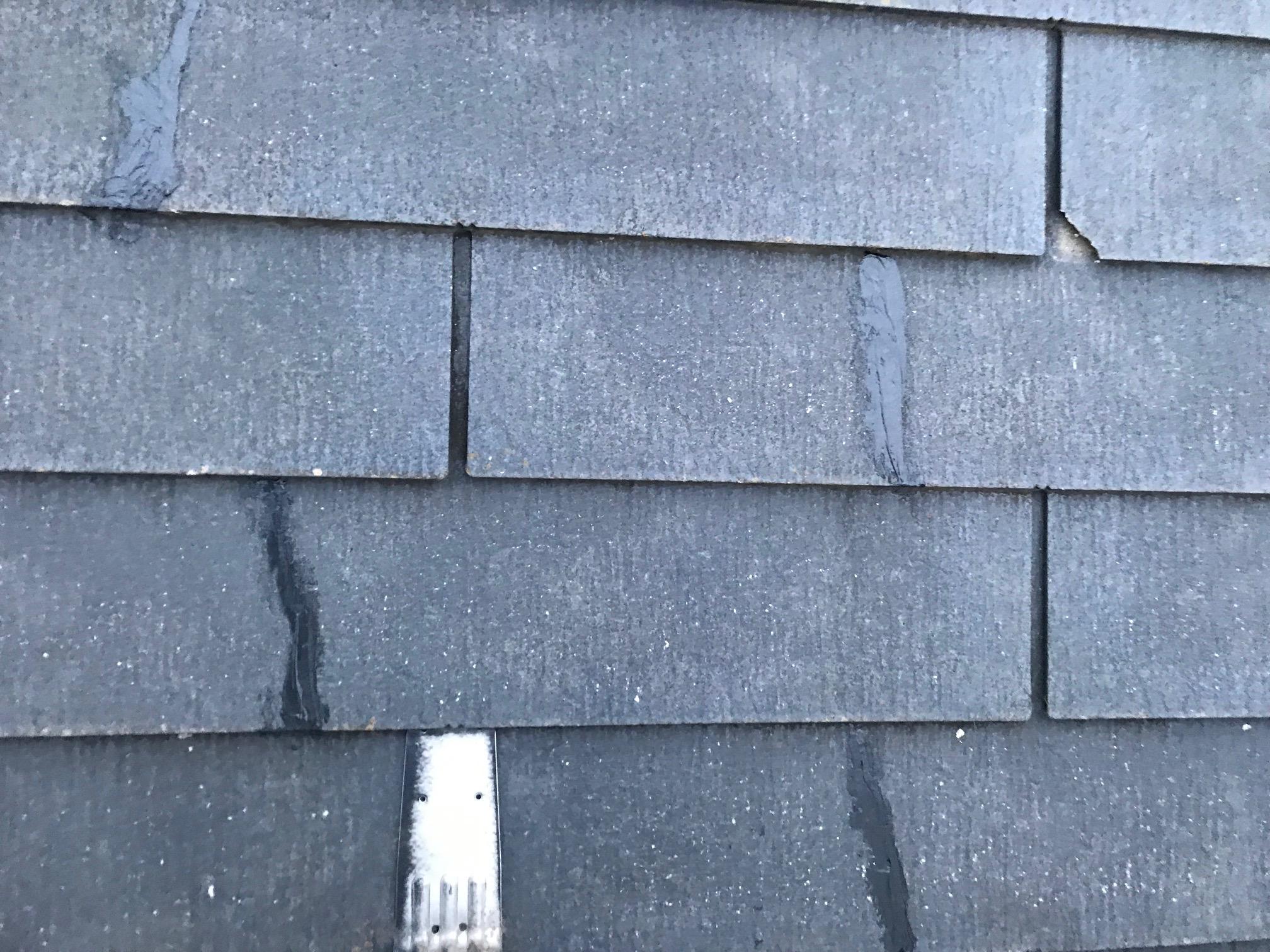 屋根のヒビの補修