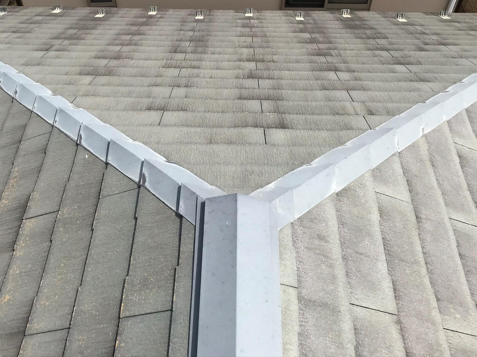 伊奈町学園でスレート屋根の無料点検北西側