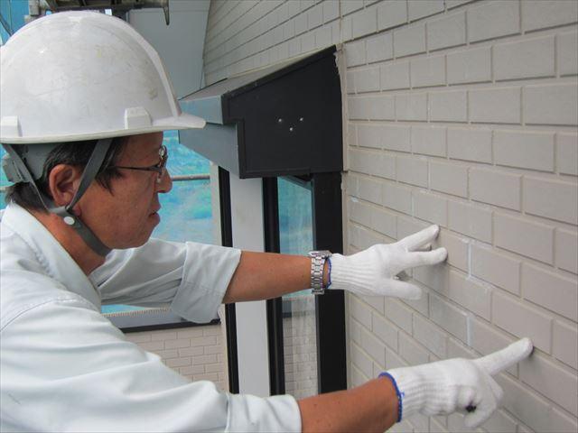 蓮田閏戸点検外壁塗膜のチェック