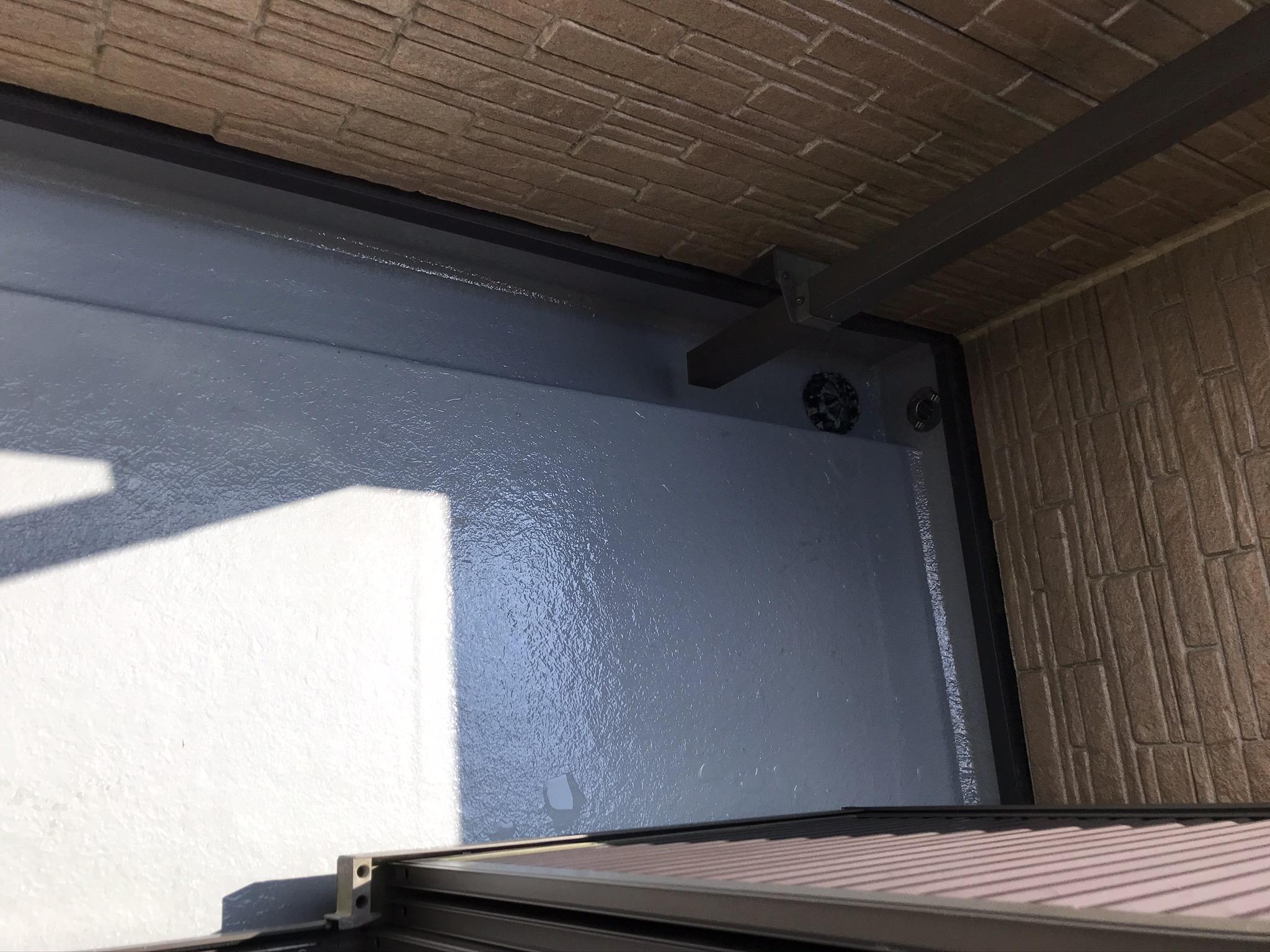 上尾市ベランダ床FRP防水トップコートメンテナンス完了