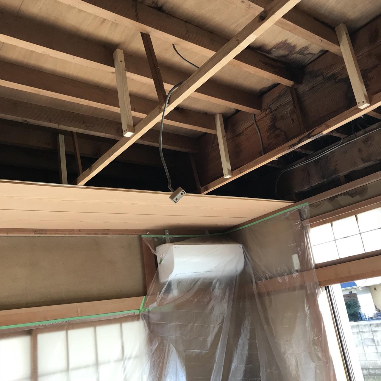 天井貼り替え完成