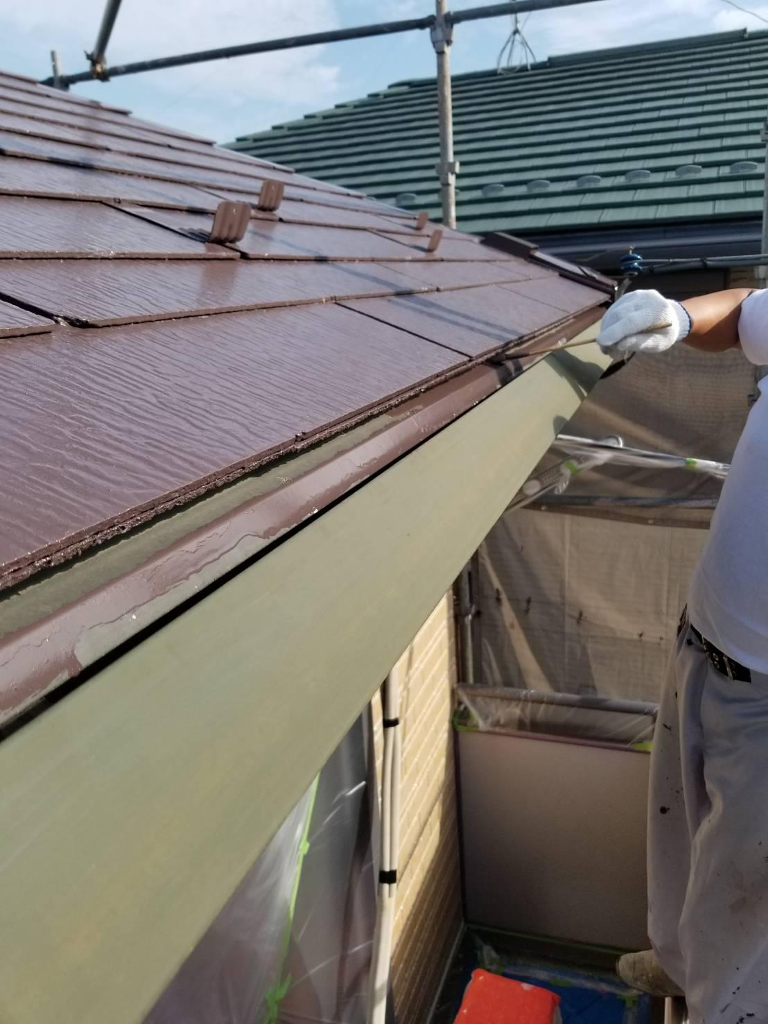 屋根と雨樋の間の水切り