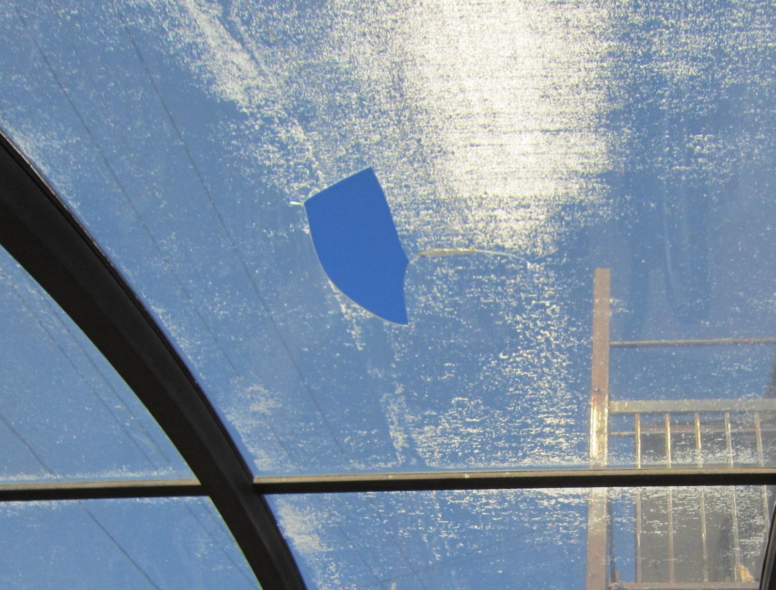 雪による車庫屋根破損2