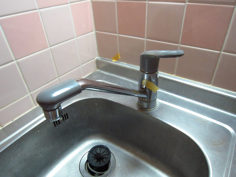 キッチンシングル水栓交換前