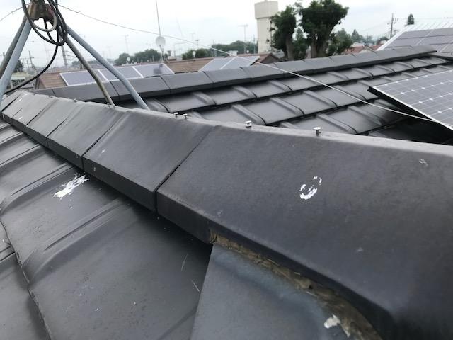 屋根点検棟瓦の釘浮き