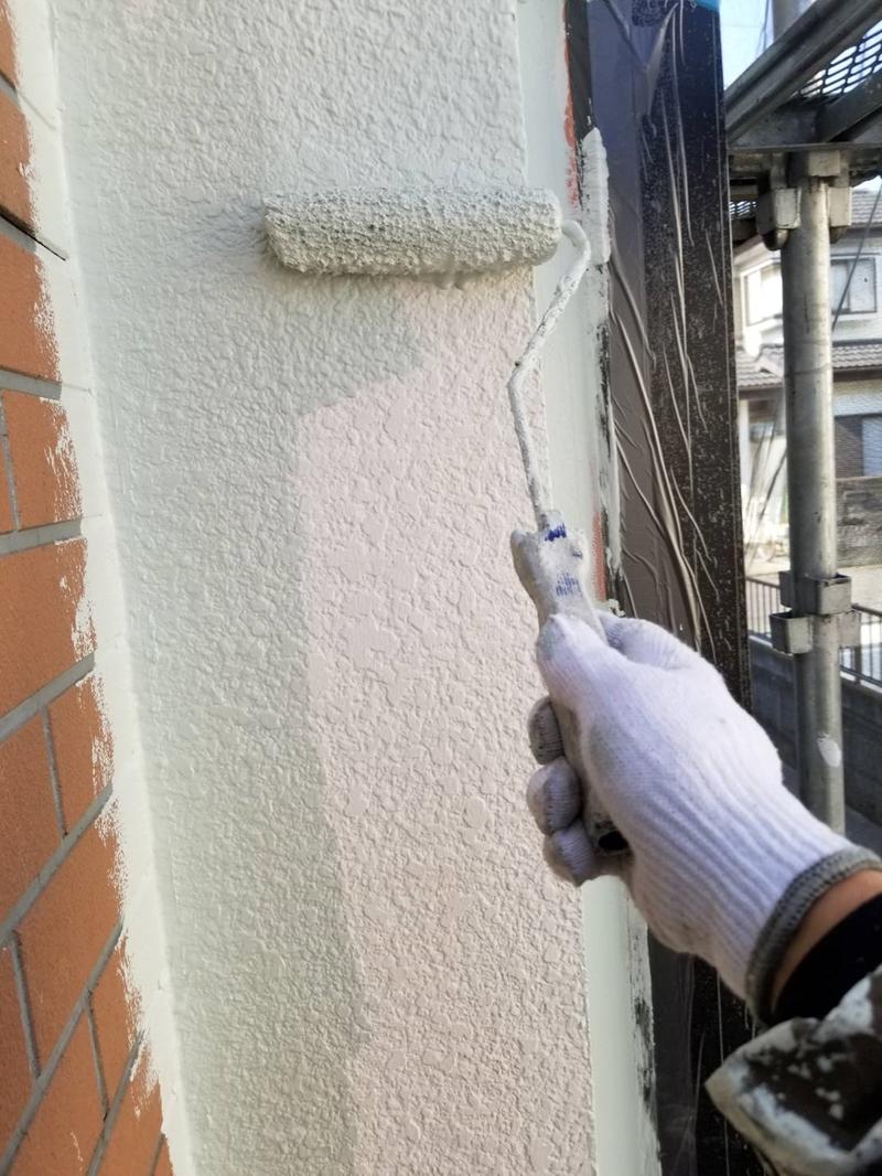 モルタル外壁中塗り