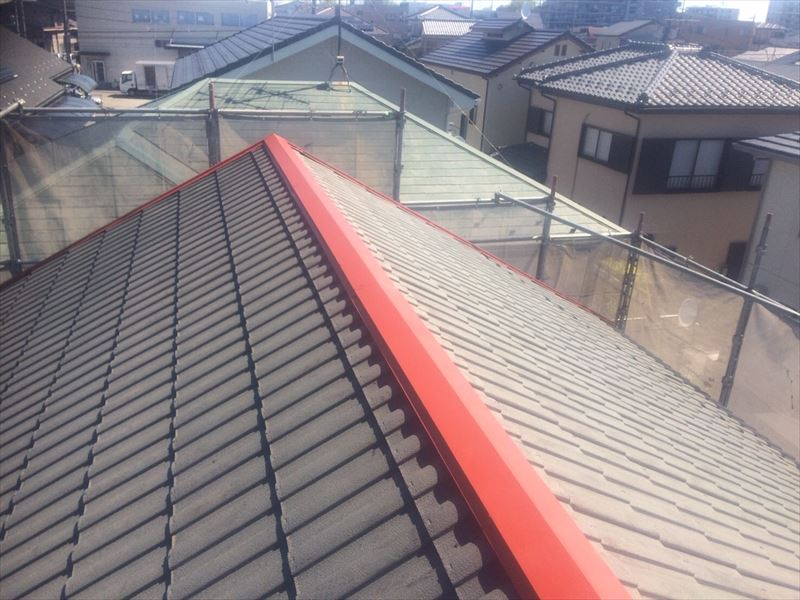 さいたま市屋根棟板金錆止め塗装