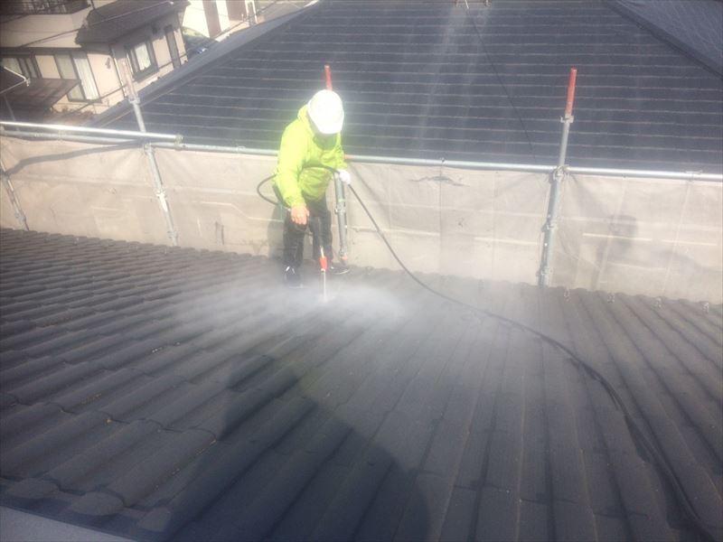 さいたま市北区で屋根の外壁洗浄