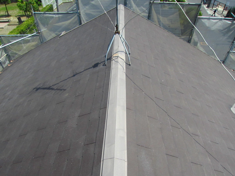 高圧洗浄後の屋根3