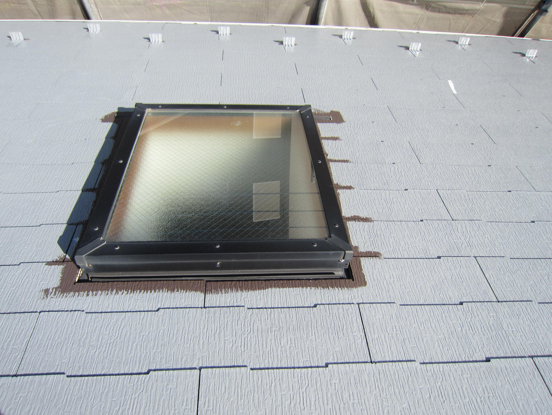 屋根天窓廻りの塗装1