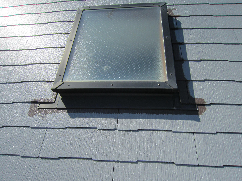 屋根天窓廻りの塗装下から